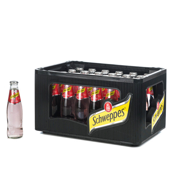 Schweppes Russian Wild Berry in der 0,2l Glasflasche