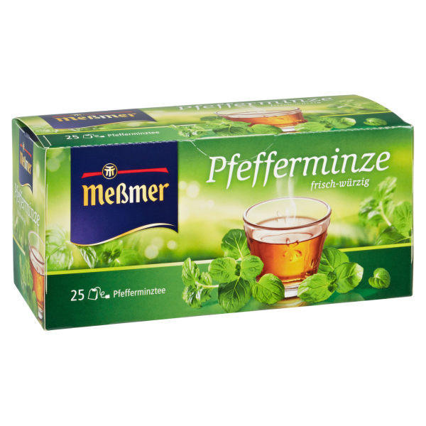 Meßmer Kräutertee Pfefferminze frisch-würzig, 25 Teebeutel 56,25 g Packung