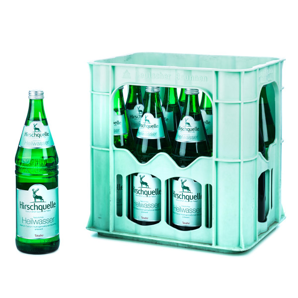 Hirschquelle Heilwasser 12 x 0,7l Glas