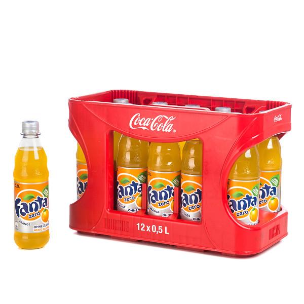 Fanta Orange Zero in der 0,5l PET Flasche