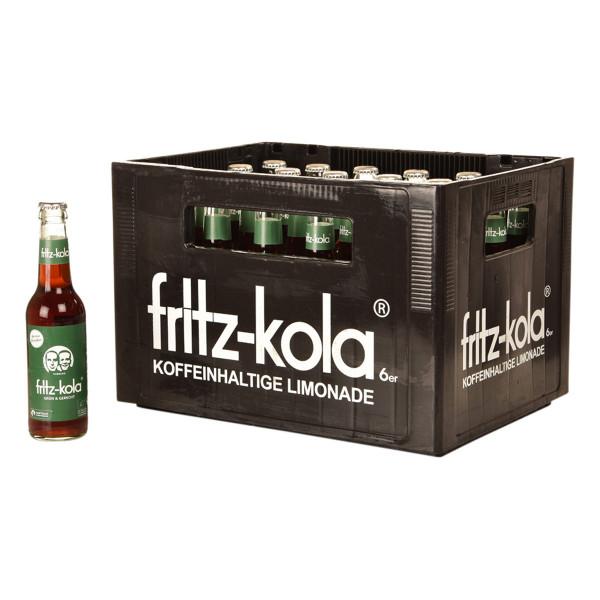 Fritz-Kola grün und gerecht Fairtrade 24 x 0,33l