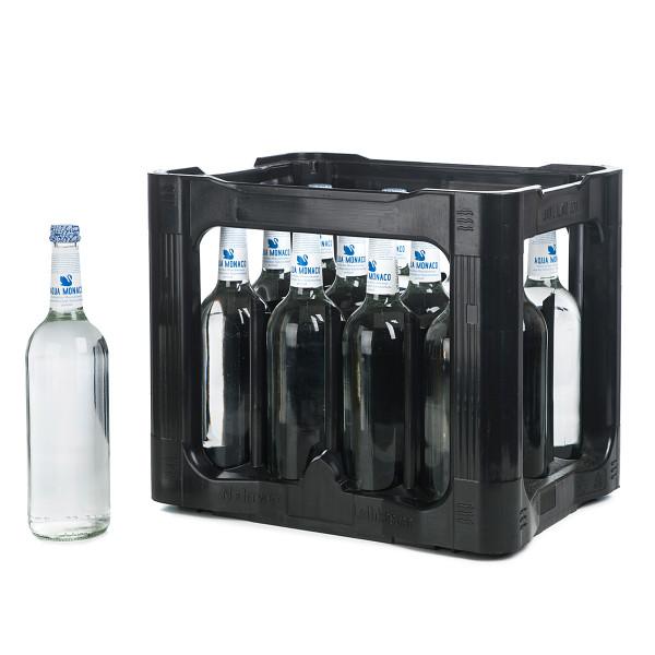 Aqua Monaco Blau groß 0,75l Glasflasche