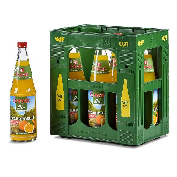 Creydt Bio Orangensaft Direksaft 6 x 0,7l