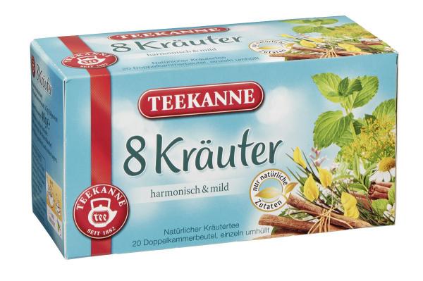 Teekanne Kräutertee 8-Kräuter Teebeutel - 12 x 40 g Karton