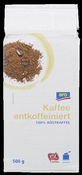 aro Kaffee entkoffeiniert UTZ - 1 x 500 g Vakuumpackung