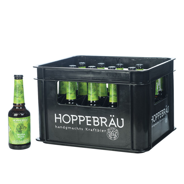Hoppebräu Wuida Hund Lager 20 x 0,33l