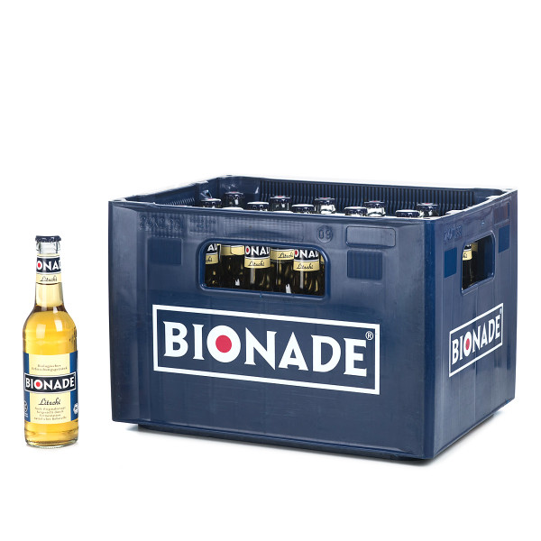 Bionade Litschi Limonade in der 0,33l Glasflasche