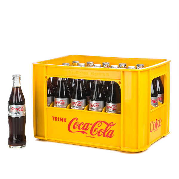 Coca Cola light in der 0,33l Glasflasche