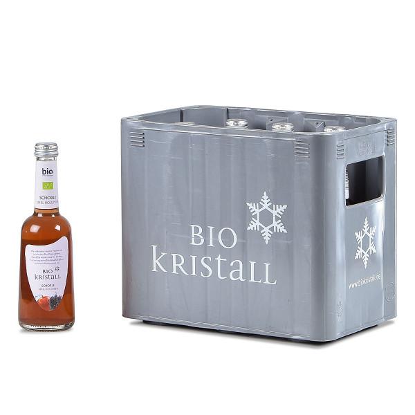 Biokristall Apfel-Holunder 10 x 0,33l