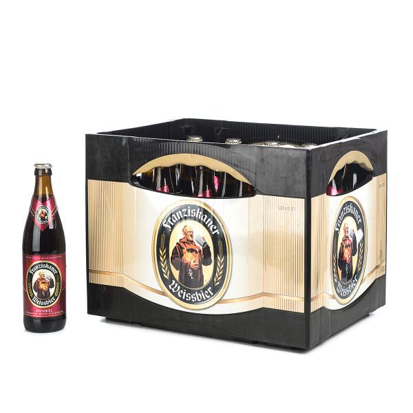 Franziskaner Dunkel in der 0,5l Glasflasche