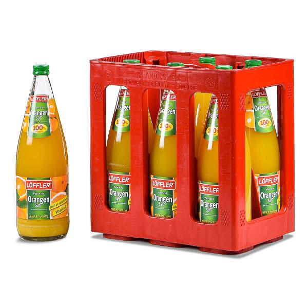 Löffler Orangensaft 100% 6 x 1l