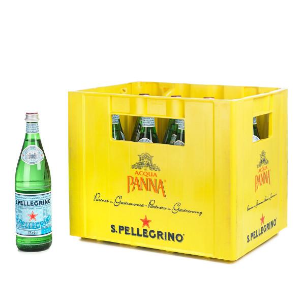 San Pellegrino Mineralwasser in der 0,75l PET Flasche