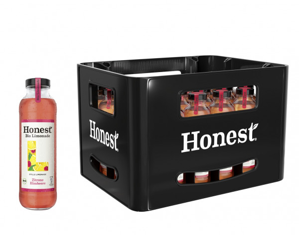 Honest Bio Limonade Zitrone & Himbeere 24 x 0,33l