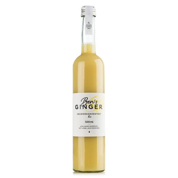 Ben's Ginger Ingwerkonzentrat in der Glasflasche