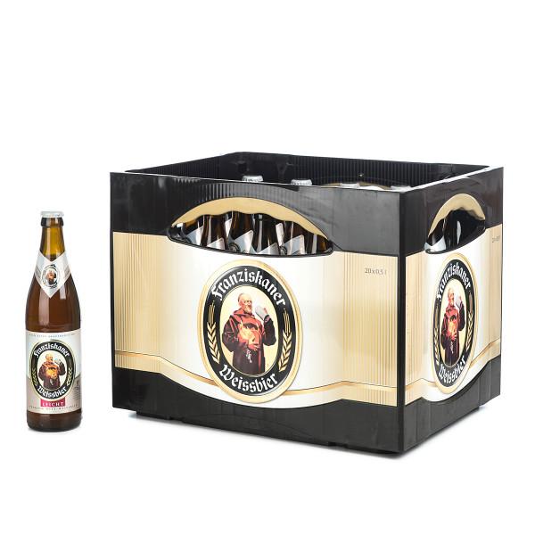 Franziskaner leichtes Weißbier in der 0,5l Glasflasche