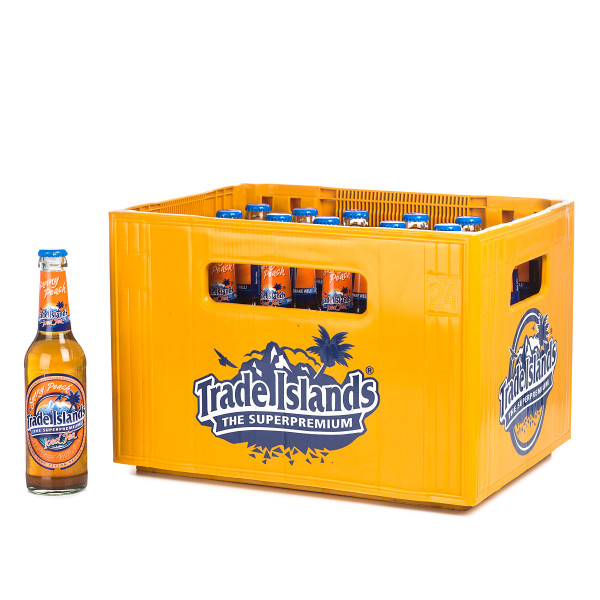 Trade Island Ice Tea Sunny Peach in der 0,33l Glasflasche