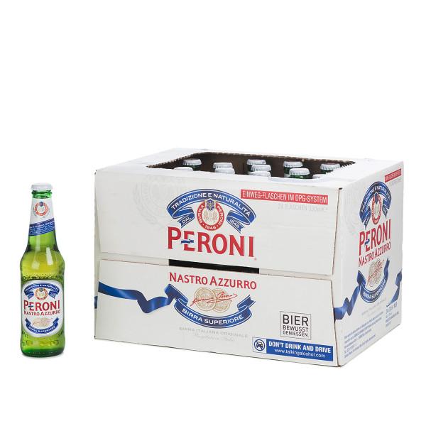 Peroni Nastro Azzurro in der 0,33l Glasflasche