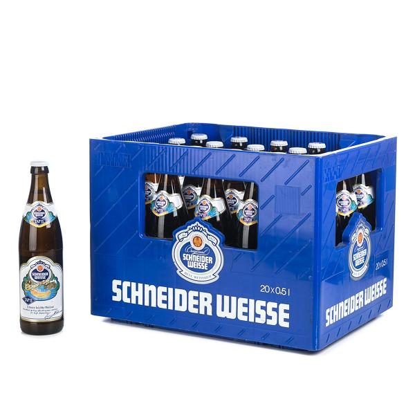 Schneider Weisse Leichtes Weißbier in der 0,5l Glasflasche