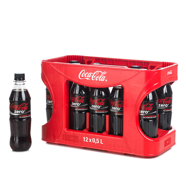 Coca Cola Zero in der 0,5l PET Flasche