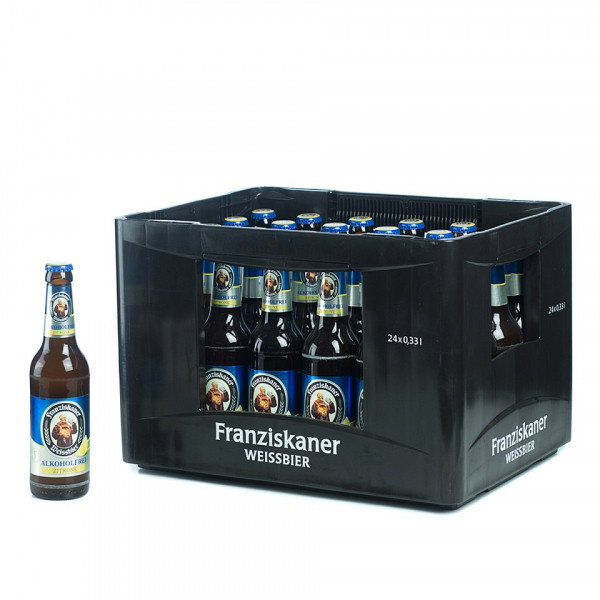Franziskaner Hefe-Weißbier Alkoholfrei Zitrone 24 x 0,33l