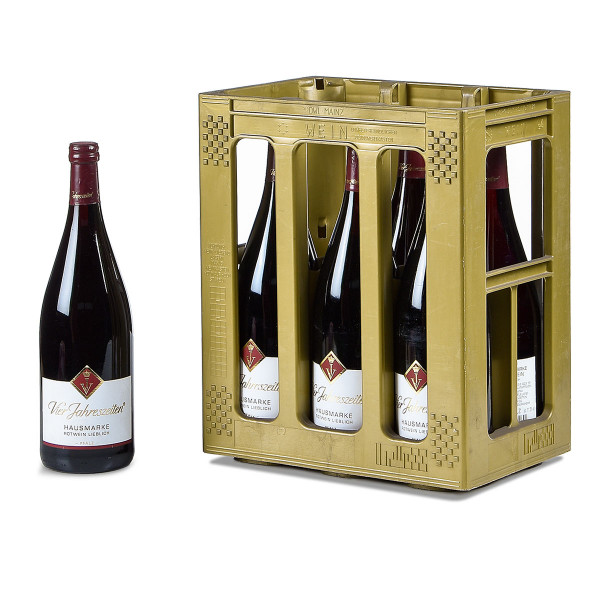 Vier Jahreszeiten Hausmarke Rotwein lieblich 6 x 1l