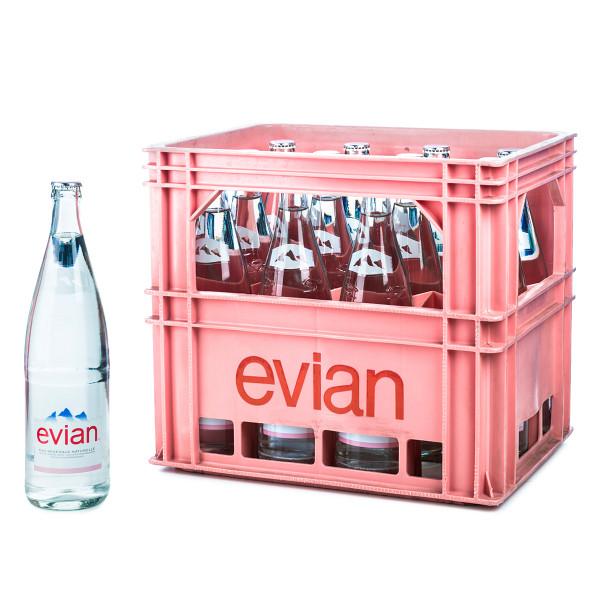 Evian 12 x 1l Glas