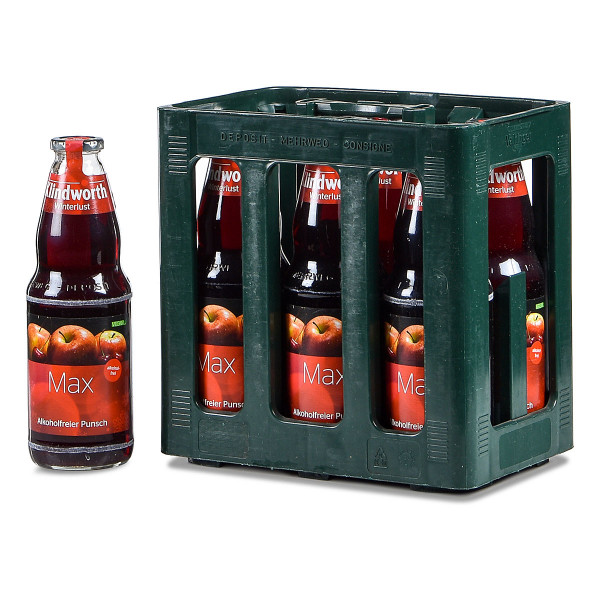 Klindworth MAX alkoholfreier Punsch rot 6 x 1l