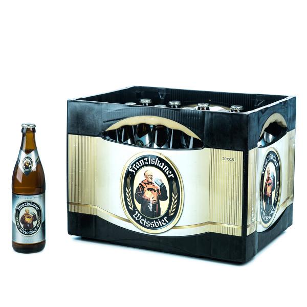 Franziskaner Hefe-Weißbier Kristallklar 20x0,5l