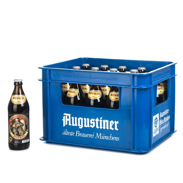 Augustiner Lagerbier Dunkel in der 0,5l Glasflasche