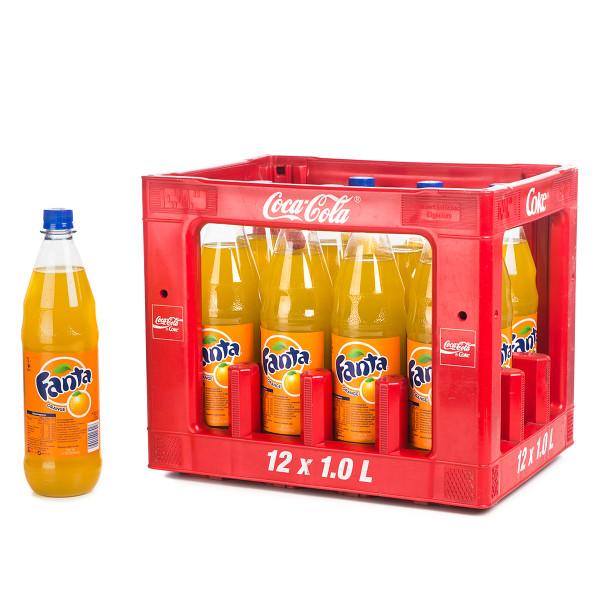 Fanta Orange in der 1l PET Flasche